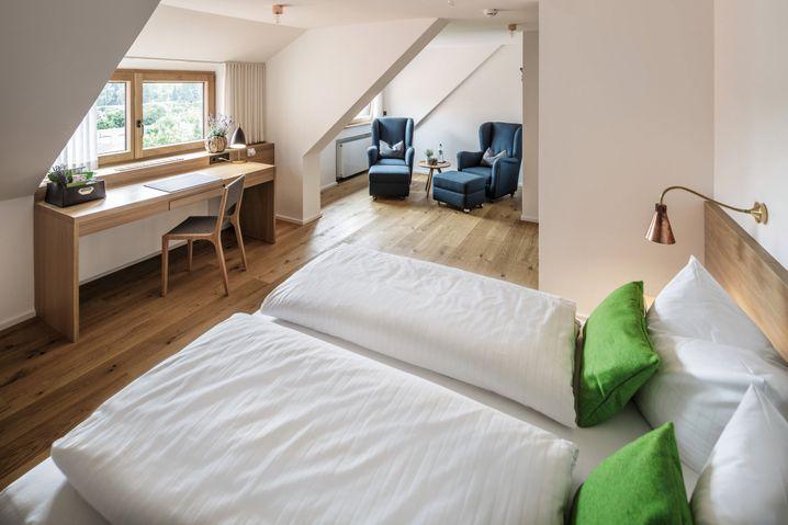 """Gästezimmer in der """"Kuroase im Kloster"""" im bayerischen Bad Wörishofen - insgesamt gibt es 65."""