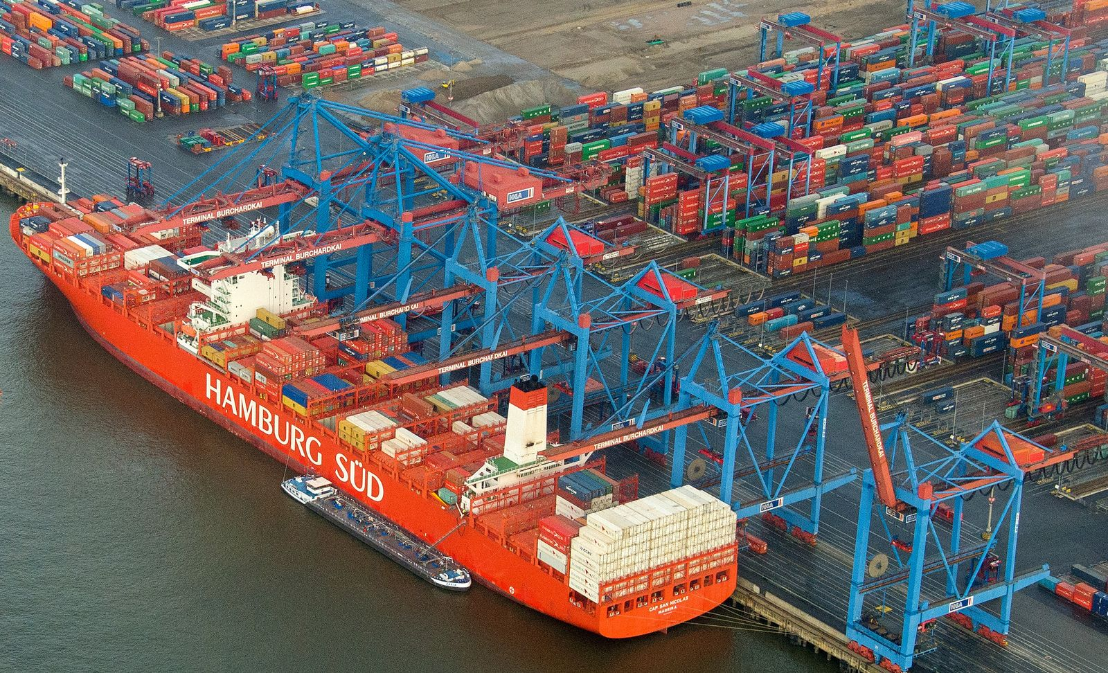 Hafen Hamburg Exporte