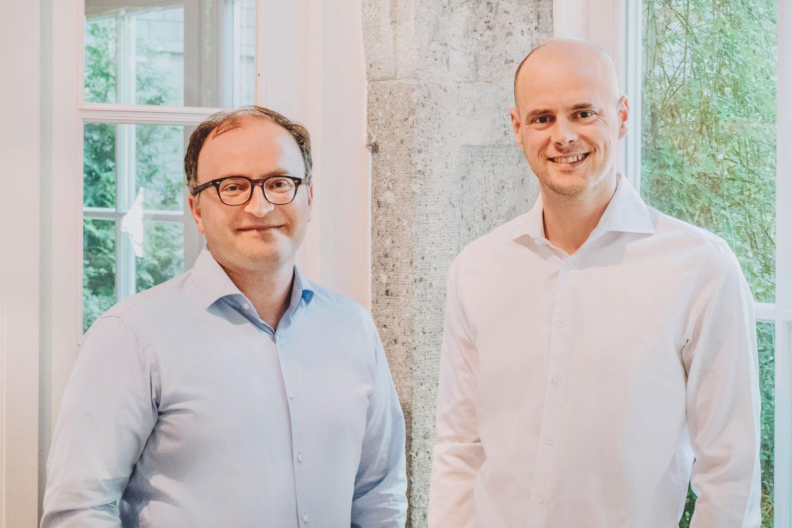 Dr. Tamaz Georgadze (li) und Dr. Tim Sievers (re) / Co-CEO Raisin DS GmbH