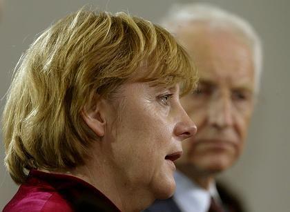 """CDU-Chefin Angela Merkl: """"Punktuelle Projekte auf den Weg gebracht"""""""