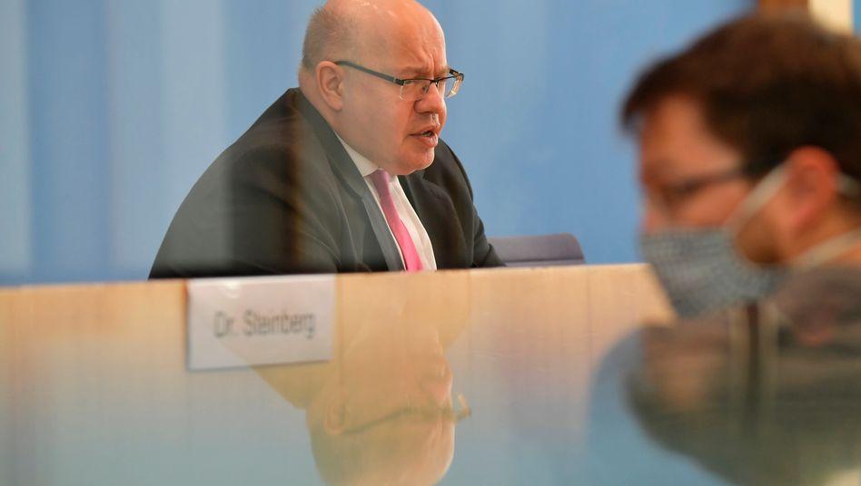 Bundeswirtschaftsminister Peter Altmaier hat am Mittwoch die wirtschaftliche Frühjahrsprognose der Bundesregierung vorgestellt.