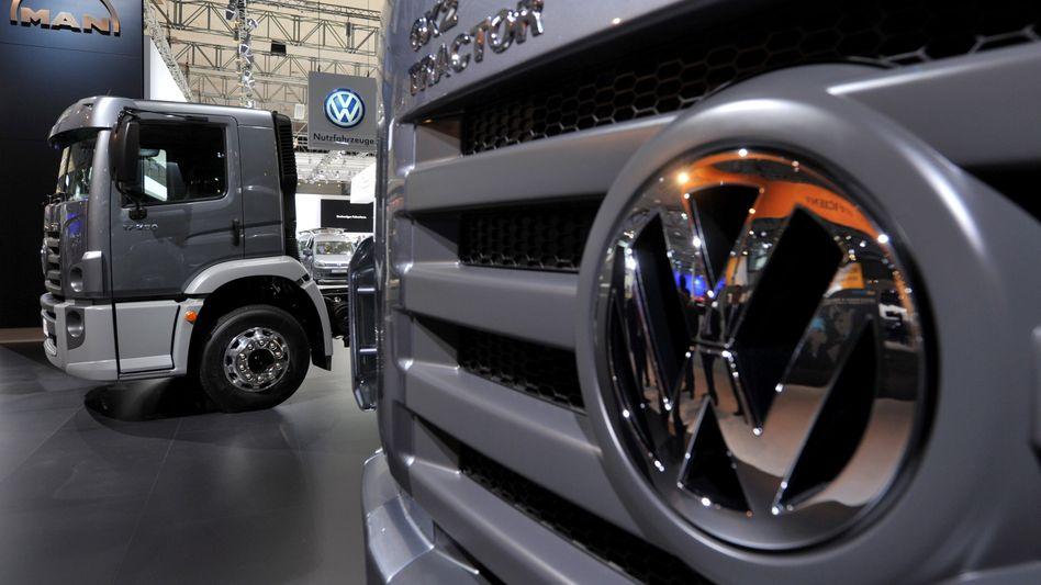 VW-Lastkraftwagen auf der IAA: Volkswagen will mit der MAN-Übernahme nicht länger zuwarten - und sich bis zur MAN-HV Ende Juni die Hauptversammlungsmehrheit sichern