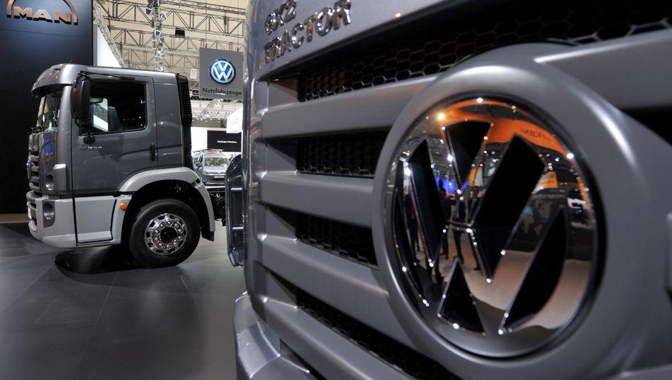 Lastwagenbauer MAN: Der VW-Konzern will das Unternehmen mit seiner schwedischen Tochter Scania fusionieren