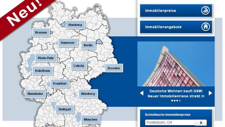 Preise, Renditen, Angebote: Immobiliendaten deutschlandweit