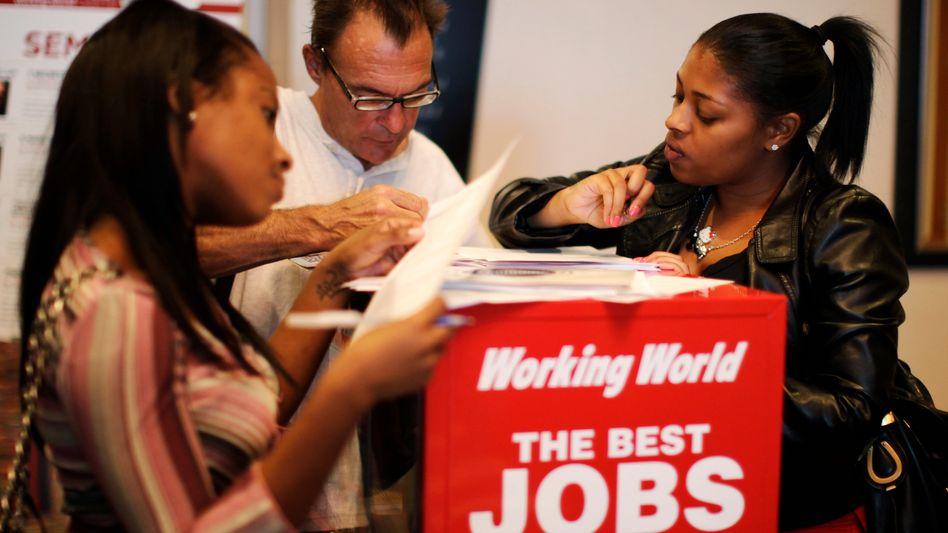 Arbeitssuchende in den USA: Lage bleibt angespannt