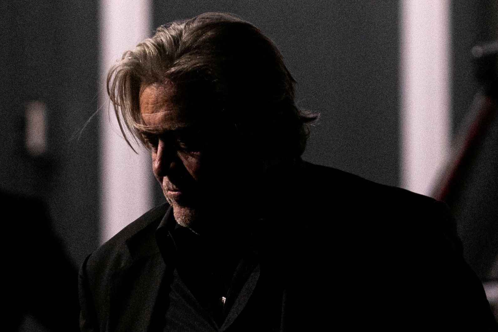 FILE PHOTO: Steve Bannon leaves the New York Young Republican Club Gala at The Yale Club of New York City in Manhattan