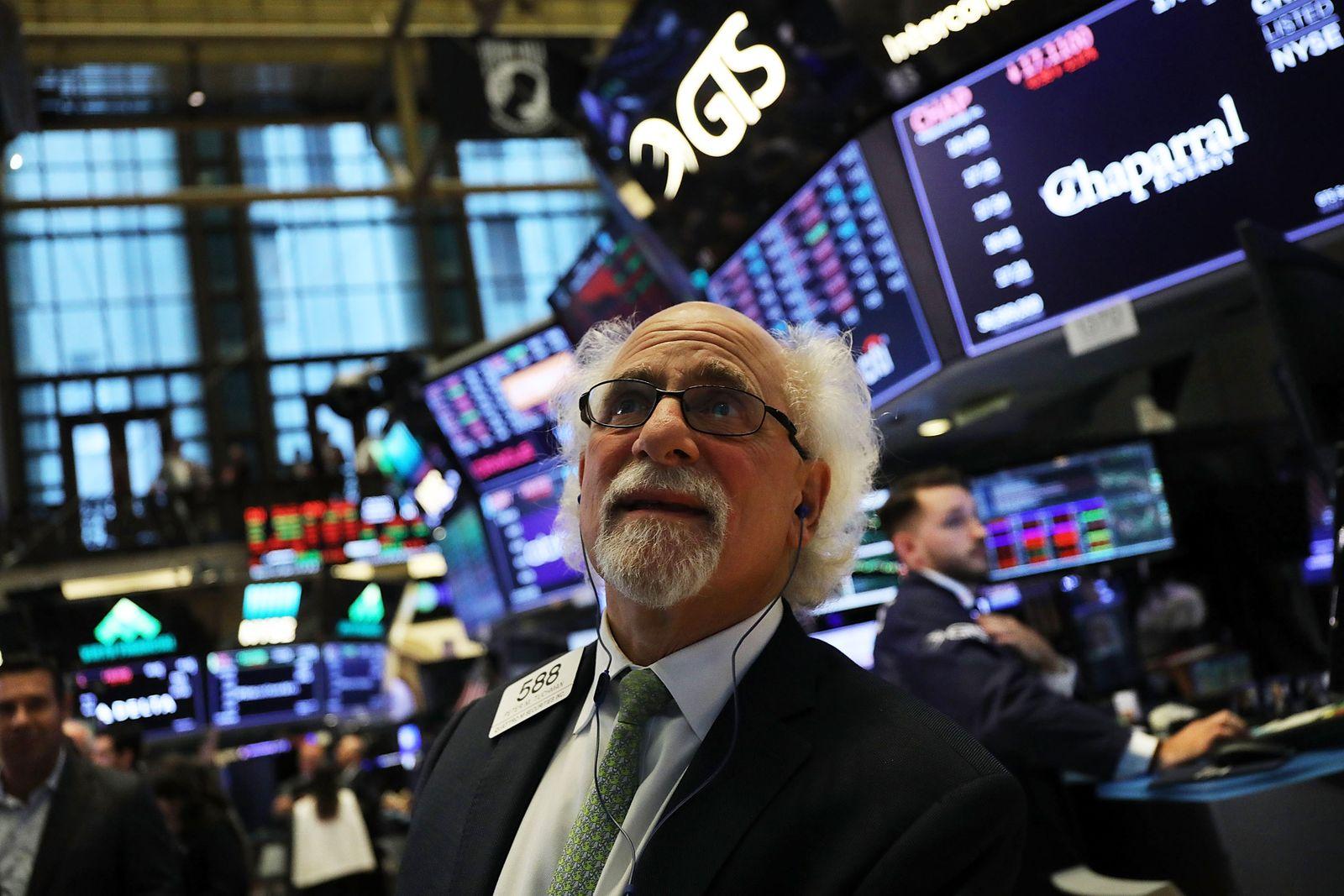 Verluste an der Wall Street / Börsencrash in New York / Börse