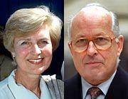 Friede Springer und Bernhard Servatius: Beide wissen, dass sie den Prozess nur gewinnen können, wenn sie zusammenhalten