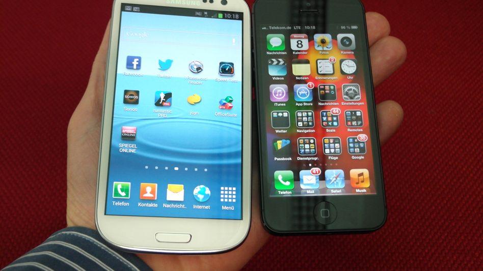 iPhone 5 vs. Samsung Galaxy S III: Zumindest in den USA sind die Apple-Geräte derzeit beliebter