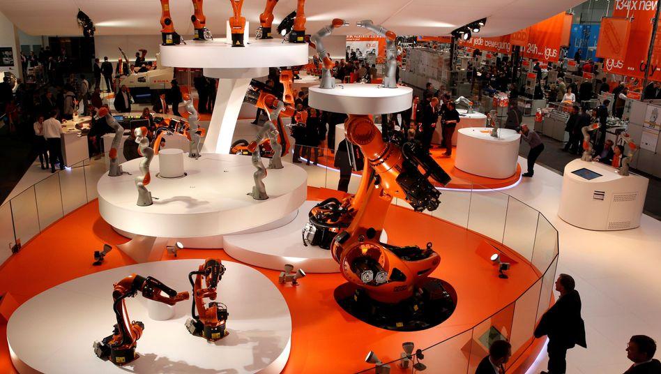 Aushängeschild der deutschen Automatisierungstechnik: Kuka-Stand auf der Hannover Messe
