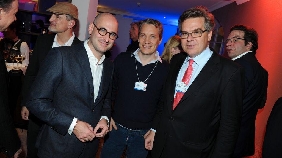 Stefan Winners (r.), mit Oliver Samwer von Rocket Internet (m.) und dem Medienunternehmer Dominik Wichmann, 2016 auf dem Weltwirtschaftsforum in Davos