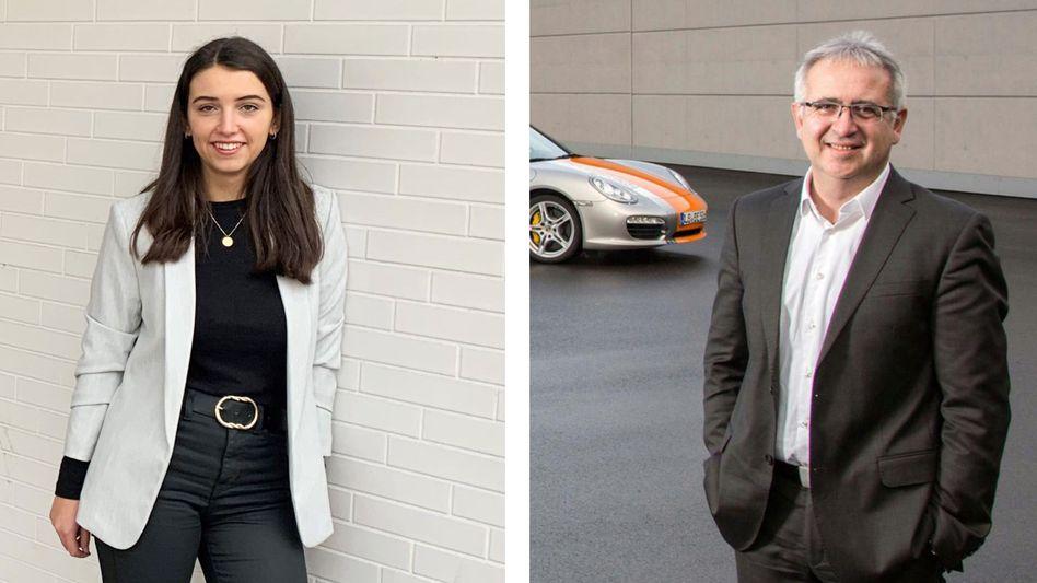 Porsche-Mitarbeitende Katharina Novak, Michael Dimitrov
