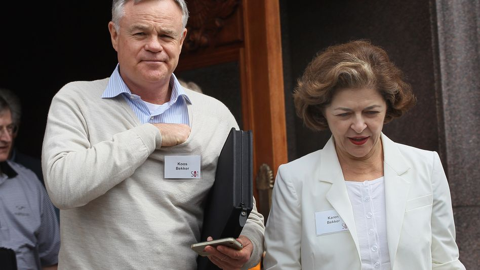 Coup der guten Hoffnung: Naspers-Chairman Koos Bekker mit Ehefra Karen.