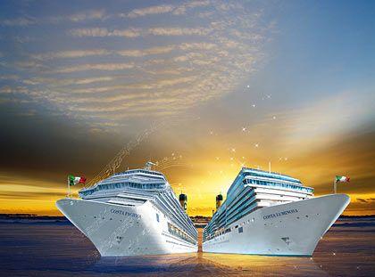 Doppeltaufe: Im Juni laufen in Genua die Costa Pacifica und die Costa Luminosa zu ihren Jungfernfahrten aus