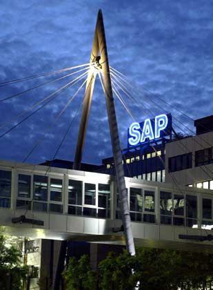 SAP-Zentrale in Walldorf: Umsatz und Gewinn sind im ersten Quartal zweistellig gestiegen