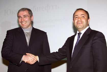 Gemeinsame Zukunft: Chodorkowski und Sibneft-Chef Eugene Shvidler