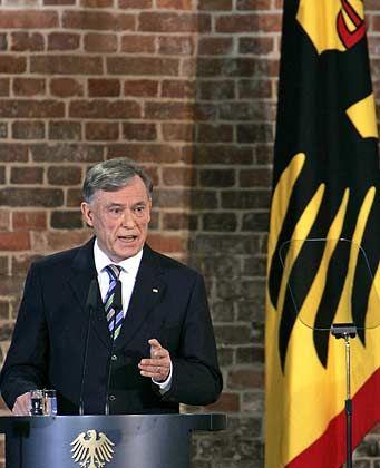 Alter und neuer Bundespräsident: Horst Köhler wurde wiedergewählt