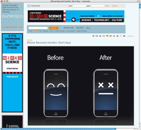Ausschnitt aus einer Protestwebsite: Fremdsoftware kann das iPhone nach einem Software-Update außer Gefecht setzen