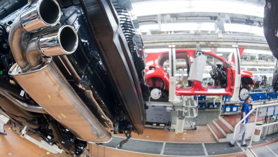 Auspuffrohr am VW TDI Diesel