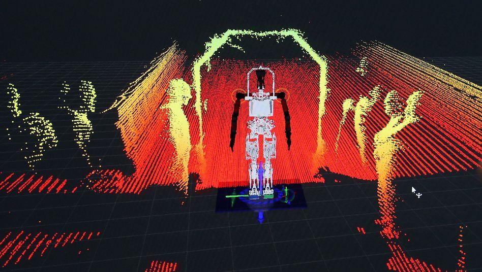 Roboterrevolution: Mit hohen Preisgeldern sucht die US-Agentur DARPA nach neuen Technologien - etwa der 3D-Umgebungsdarstellung bei Robotern.