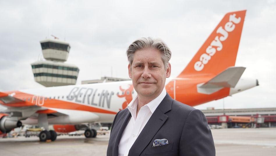 Easyjet-Vorstandschef Johan Lundgren will mit Investitionen in Klimaschutzprojekte den CO2-Ausstoß aller Flüge kompensieren.