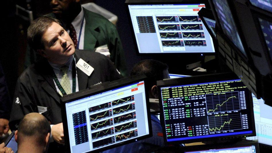 Händler an der Wall Street: Die Börsen notieren auf Rekordniveau
