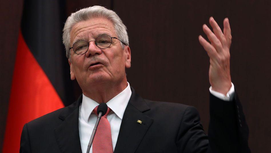 Bundespräsident Joachim Gauck: Recht auf Chancengleichheit der NPD durch Äußerungen nicht verletzt