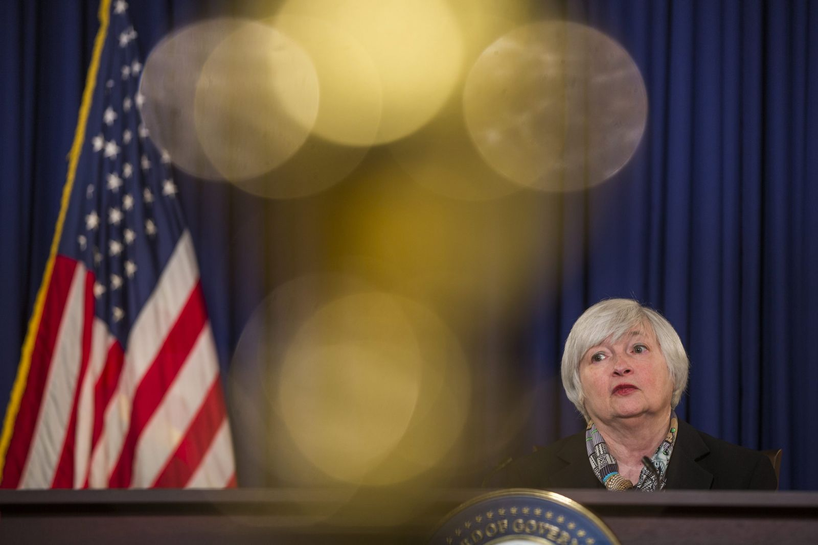 Yellen Holds First Press Conference After Fed Meeting
