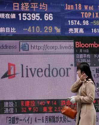 Nicht mehr viel wert: Livedoor-Aktie