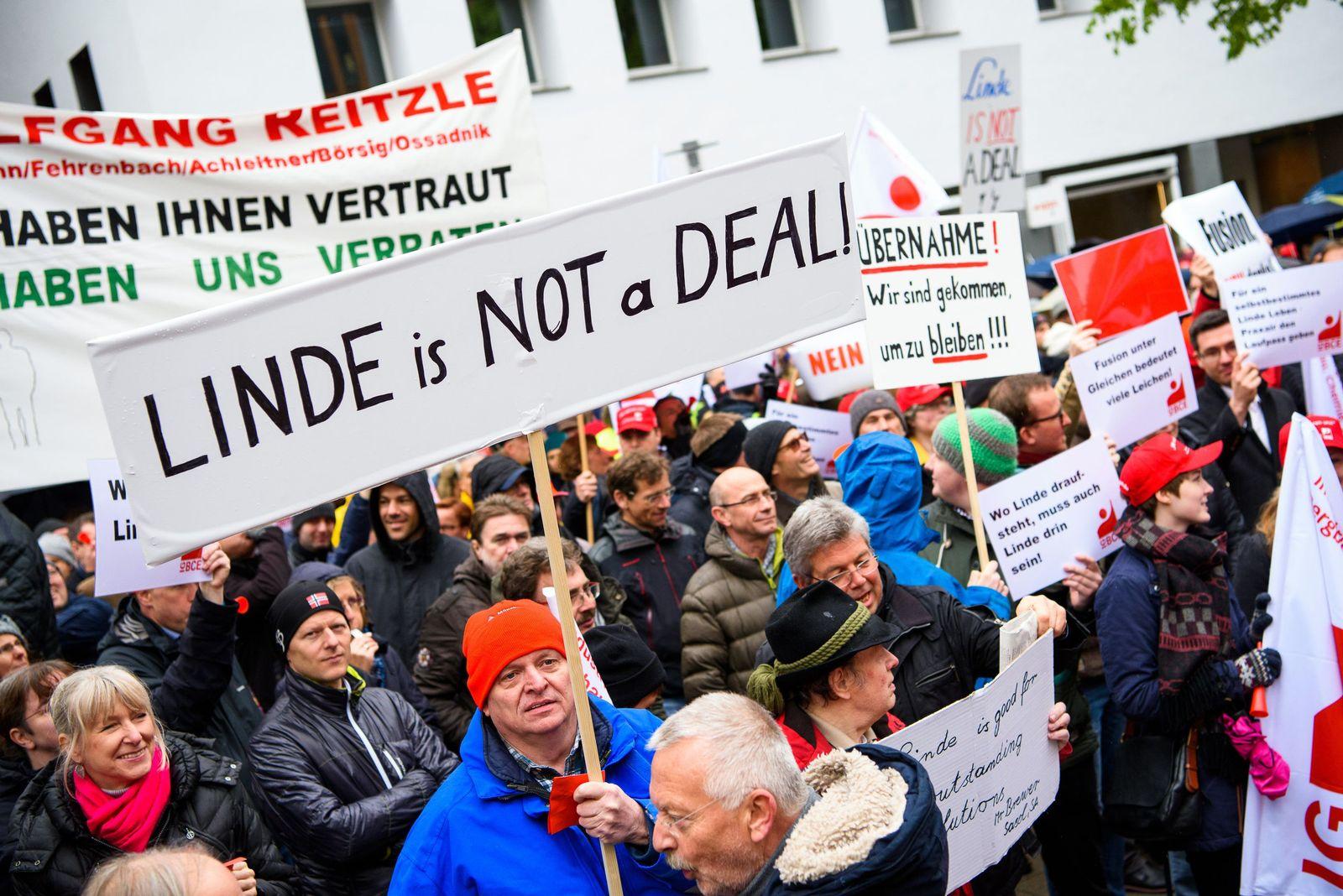 Aktionstag gegen geplante Linde-Praxair-Fusion