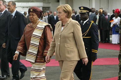 Chancen nutzen: Kanzlerin Merkel bei ihrer Afrika-Reise