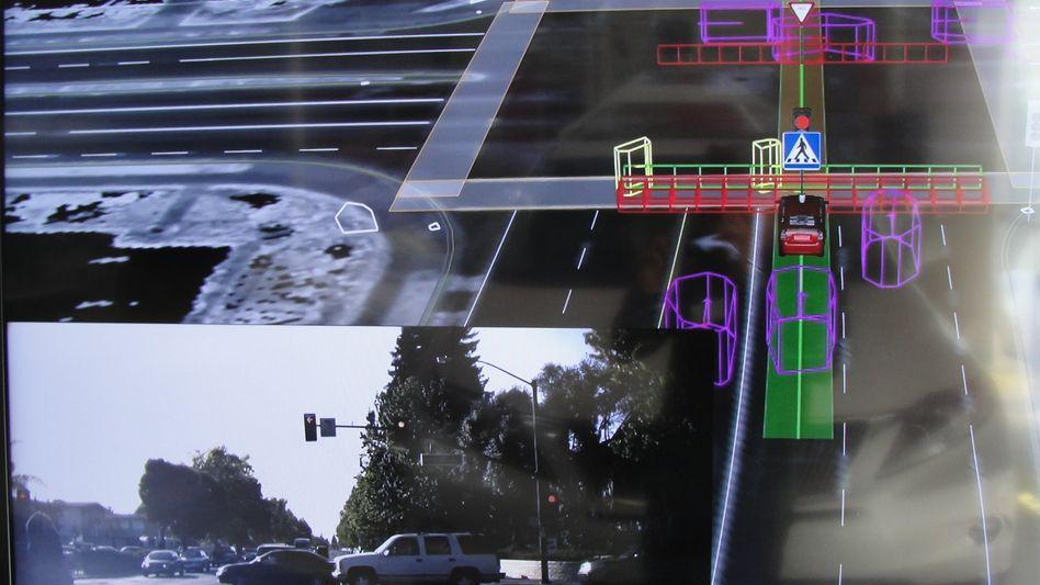 Die Welt des Google Car: Kameras, Sensoren und Satelliten weisen den Weg