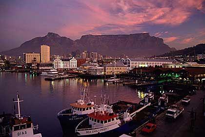 Vodafone will in Südafrika expandieren: Hafen von Kapstadt