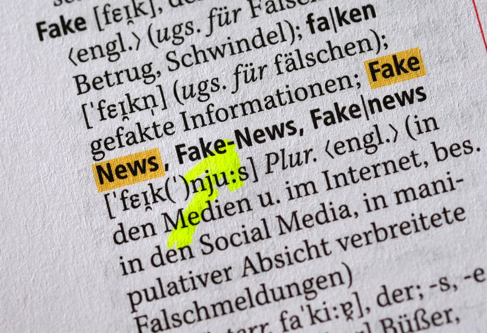"""Duden - Das Wort """"Fake News"""""""
