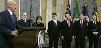 Plan geändert: US-Finanzminister Paulson nutzt die für faule Kredite gedachten Milliarden jetzt als Kapitalspritze