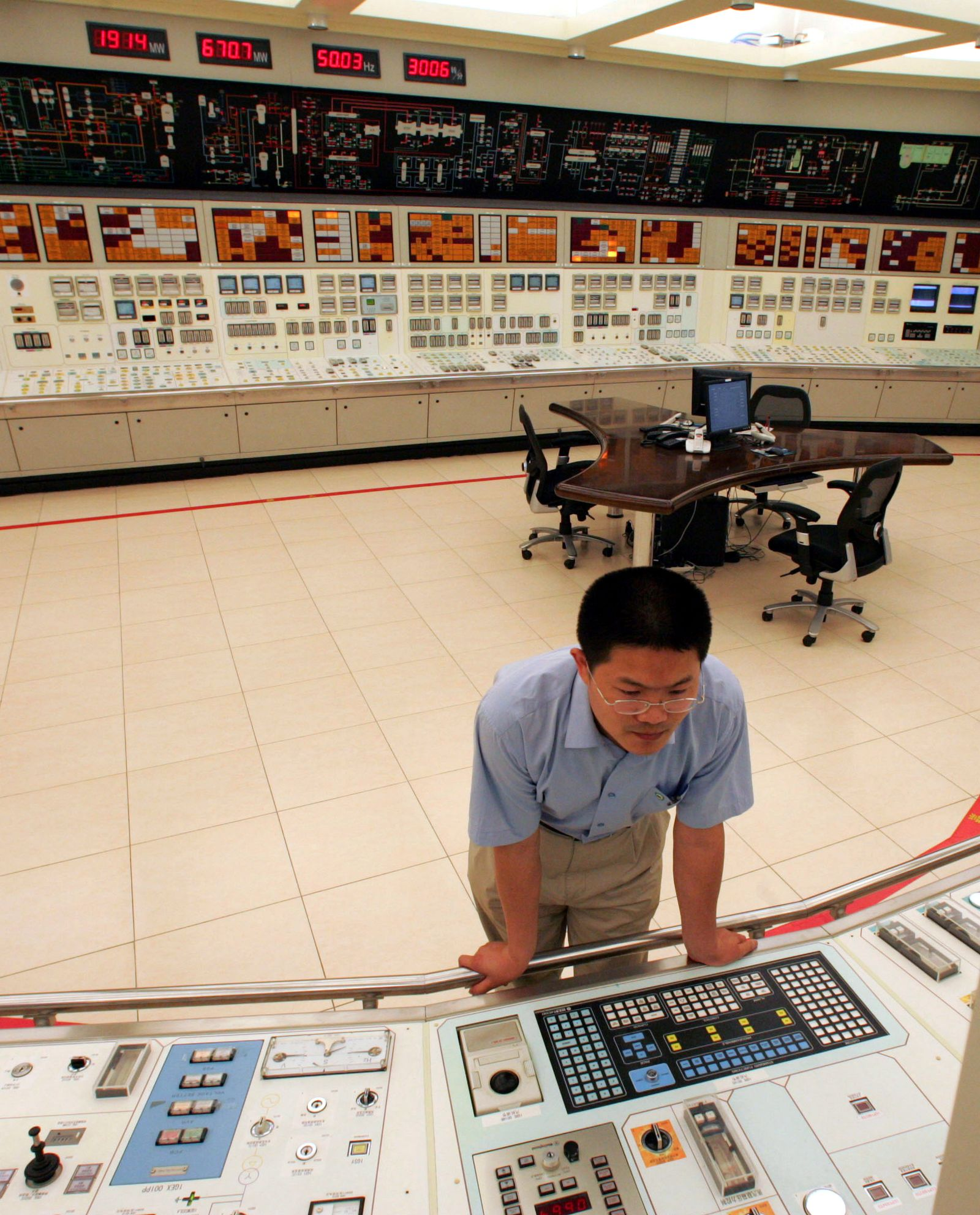 China / CNNC / Atomkraft / AKW Kontrollraum