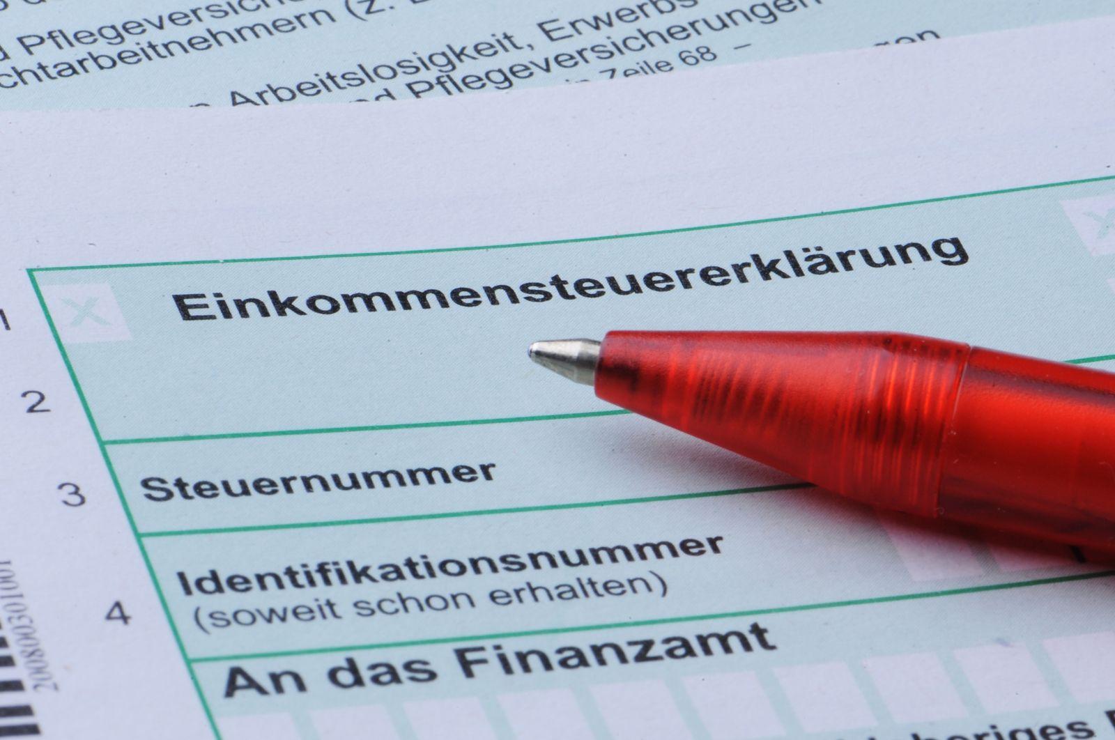 Formular zur Einkommenssteuererklärung