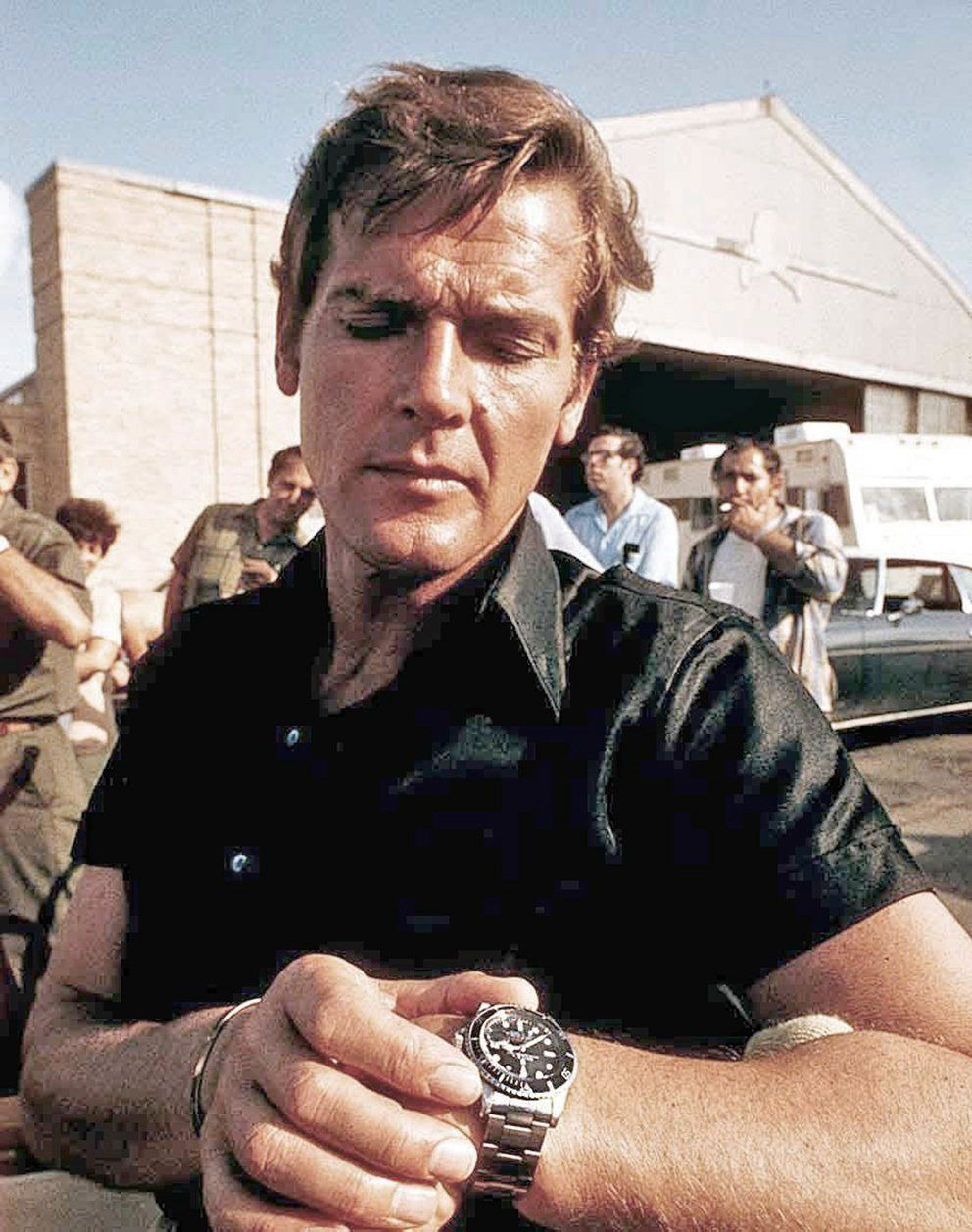 Roger Moore and his Rolex 5513 Submariner