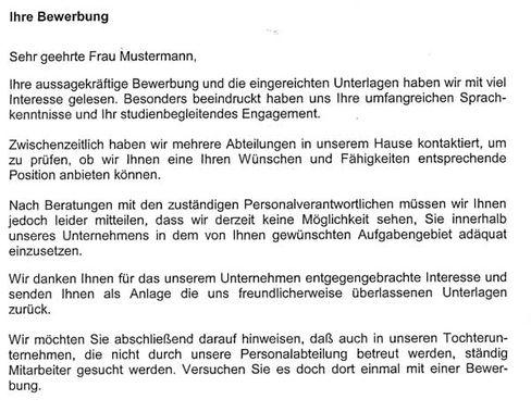 Bewerber Absagen Bitte Recht Freundlich Der Spiegel