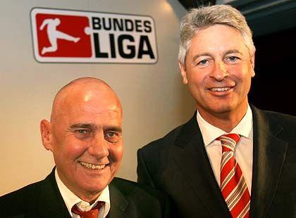 Kompromiss ausgehandelt: T-Com-Vorstand Walter Raizner und DFL-Chef Werner Hackmann