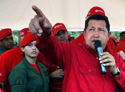 """Venezuelas Präsident Hugo Chavez: """"Wäre das Klima eine kapitalistische Großbank, hätten die reichen Staaten es längst gerettet."""""""