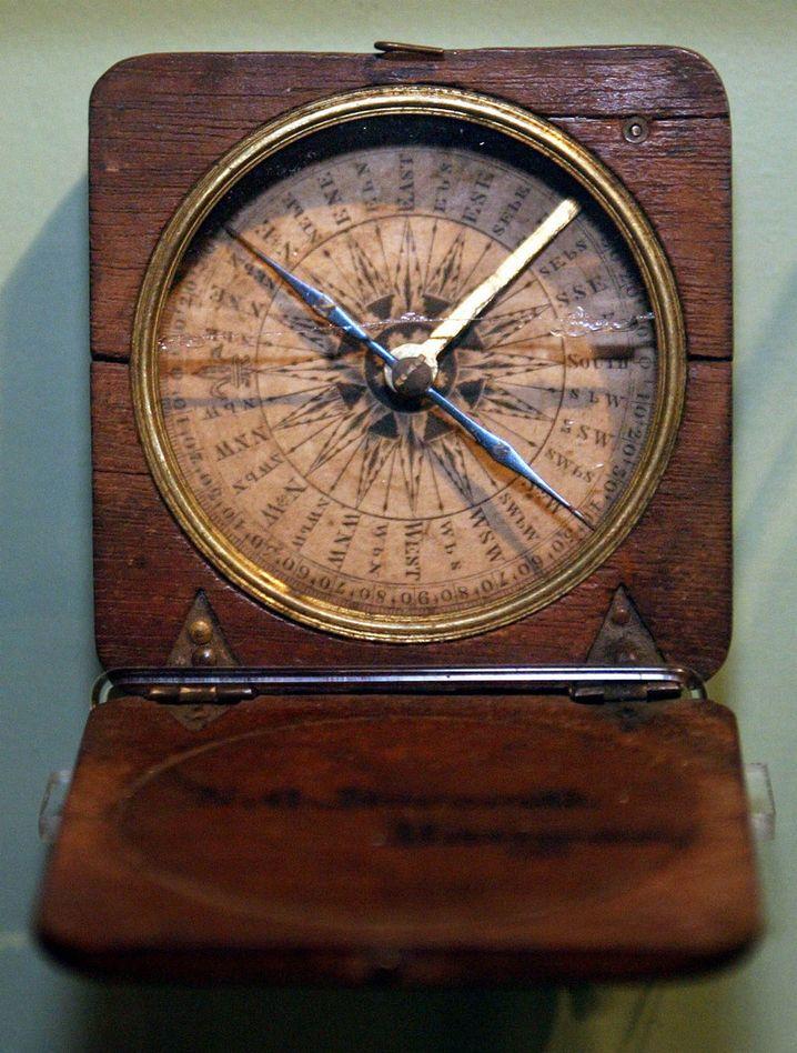 Historischer Kompass: Bei Orientierungsläufen könnte man auch damit reüssieren - aber es gibt natürlich weitaus praktischere Modelle