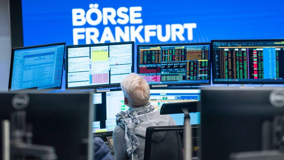Börse in Frankfurt: Der Dax notiert nahe Rekordhoch