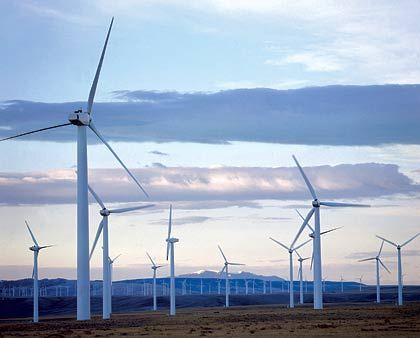 Etablierte Kraft: Windkraftwerk in den USA