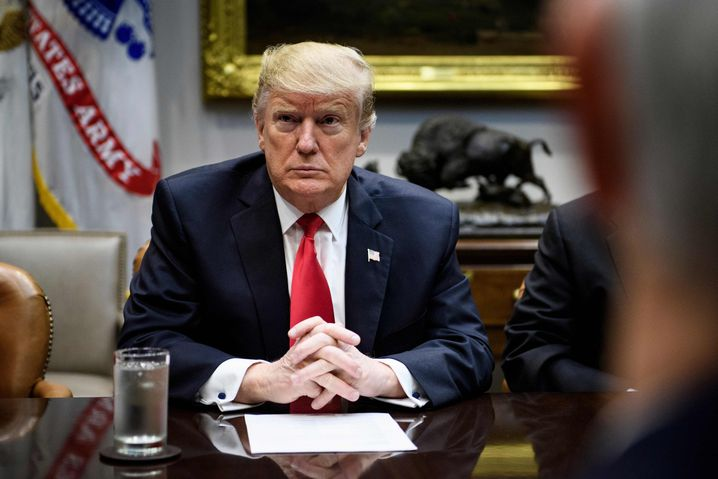 """US-Präsident Donald Trump: """"Noch sehr viel Arbeit"""""""