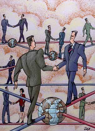 Gute Beziehungen, kurze Wege: Wer viele Menschen kennt, kann schnell Kontakte knüpfen