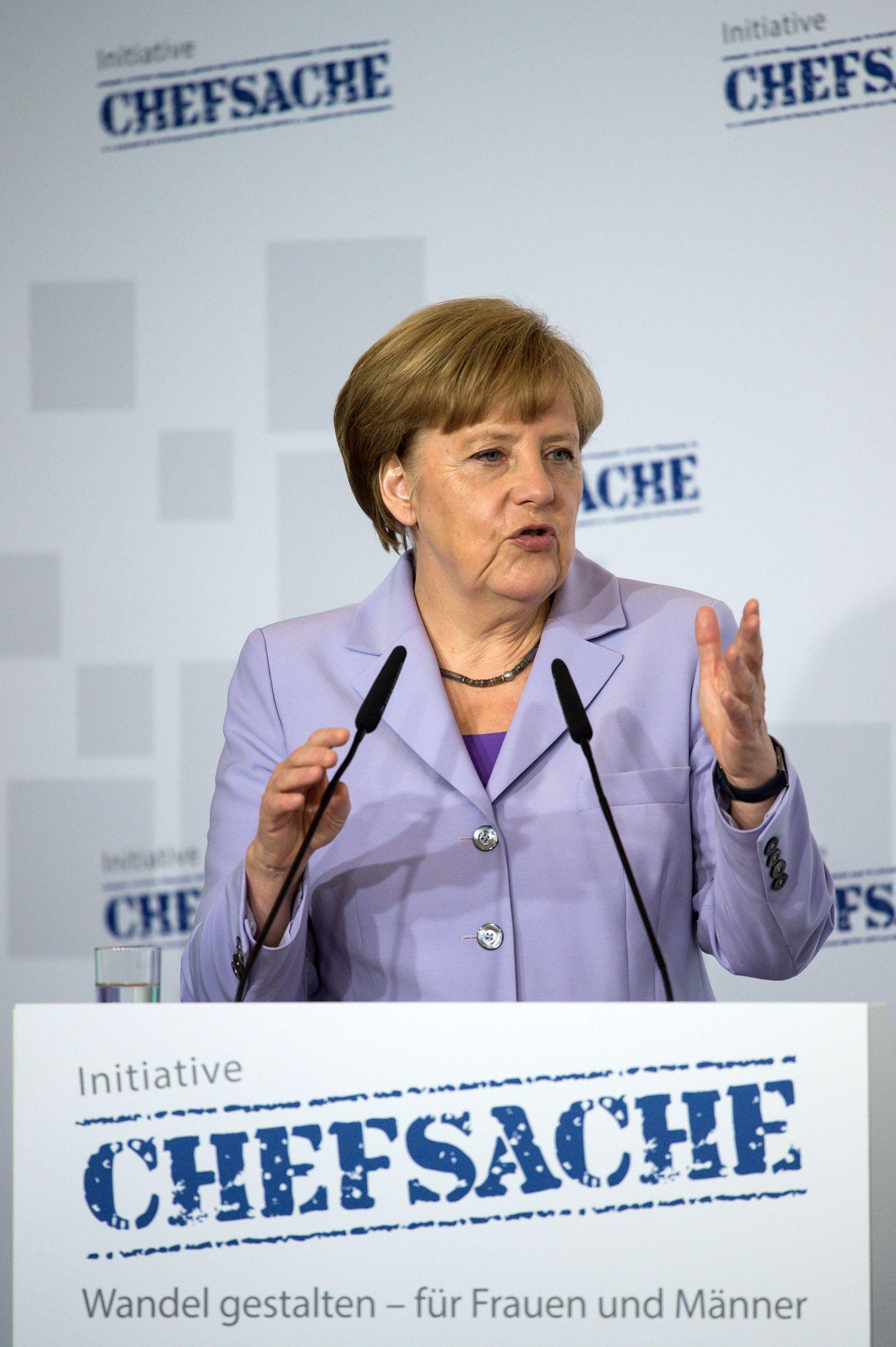 """Merkel; Chefsache """"Wandel gestalten - für Frauen und Männer"""""""