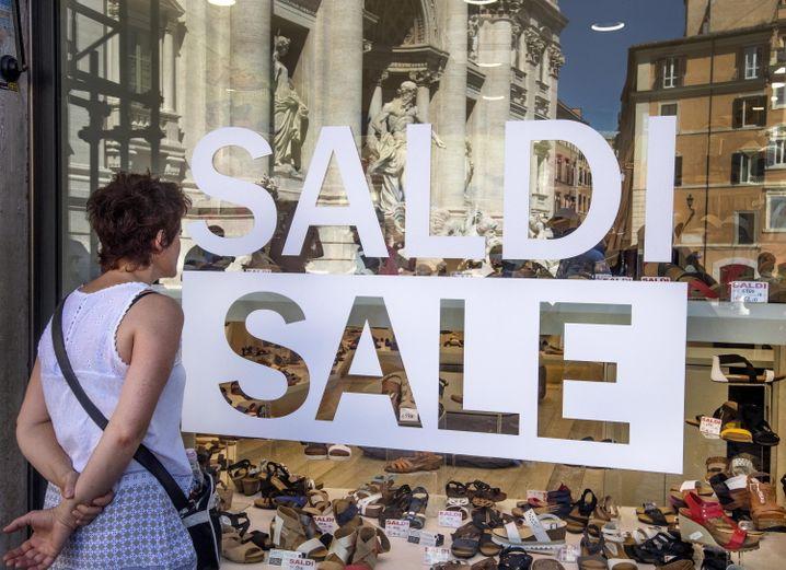 Ausverkauf in Rom: Die Einkommen sind heute geringer als zur Einführung des Euro