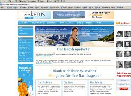 Reiseportal Askerus: Was will der Nutzer?