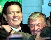 Vorbild: Mit der vorübergehenden Rettung des angeschlagenen Holzmann-Konzerns gelang Gerhard Schröder 2000 ein kurzfristiger Medienerfolg